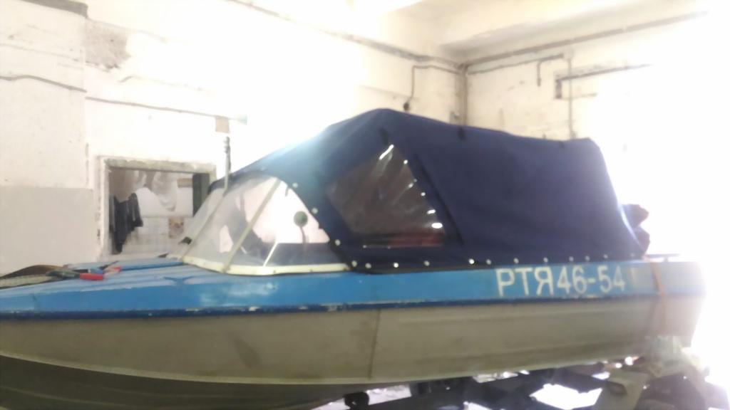 Ходовой тент для лодки «Амур» в Томске