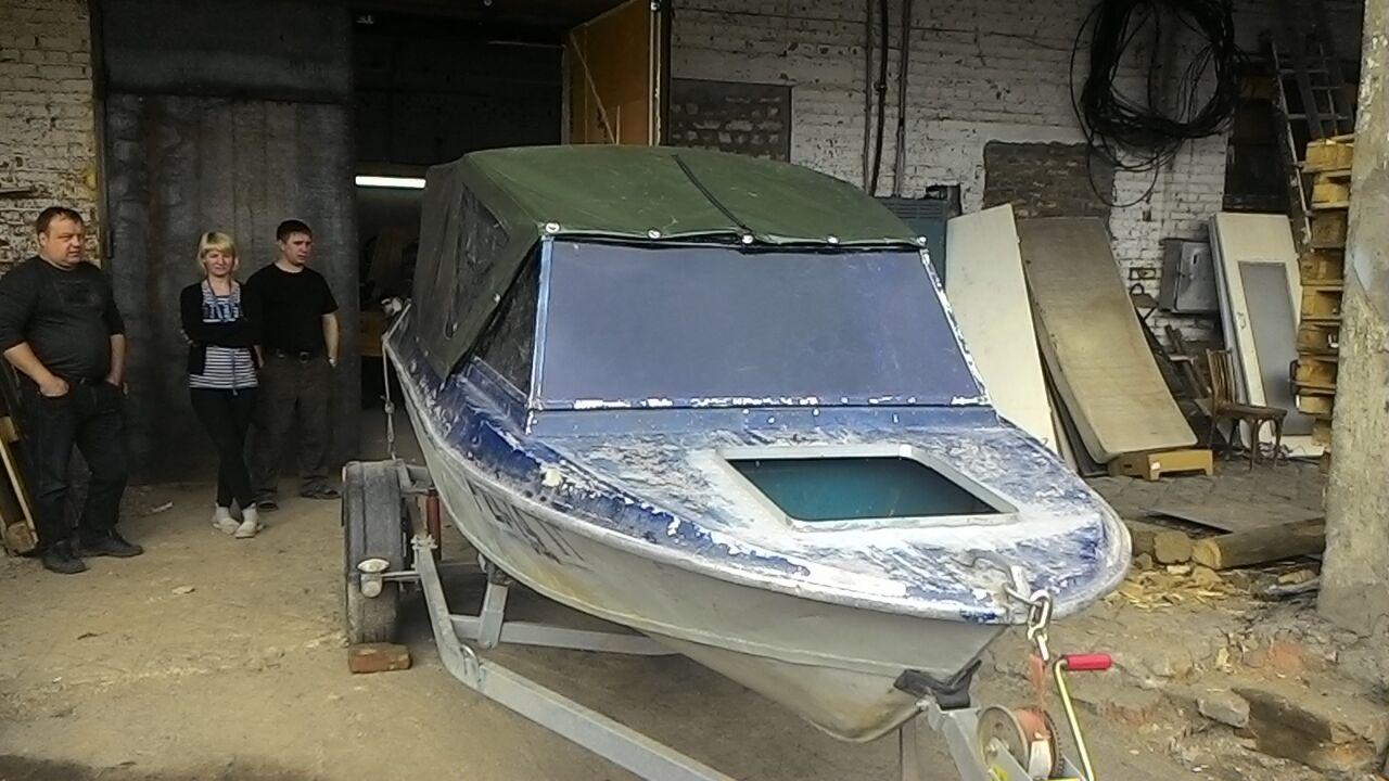 Изготовление ходового тента на лодку «Крым» в Томске на заказ