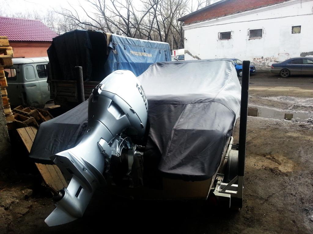 Пошив транспортировочного тента-чехла на лодку «