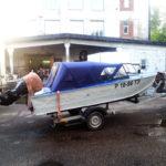 Ходовые тенты на лодки в Томске, изготовление ходовых тентов и каркасов на лодки