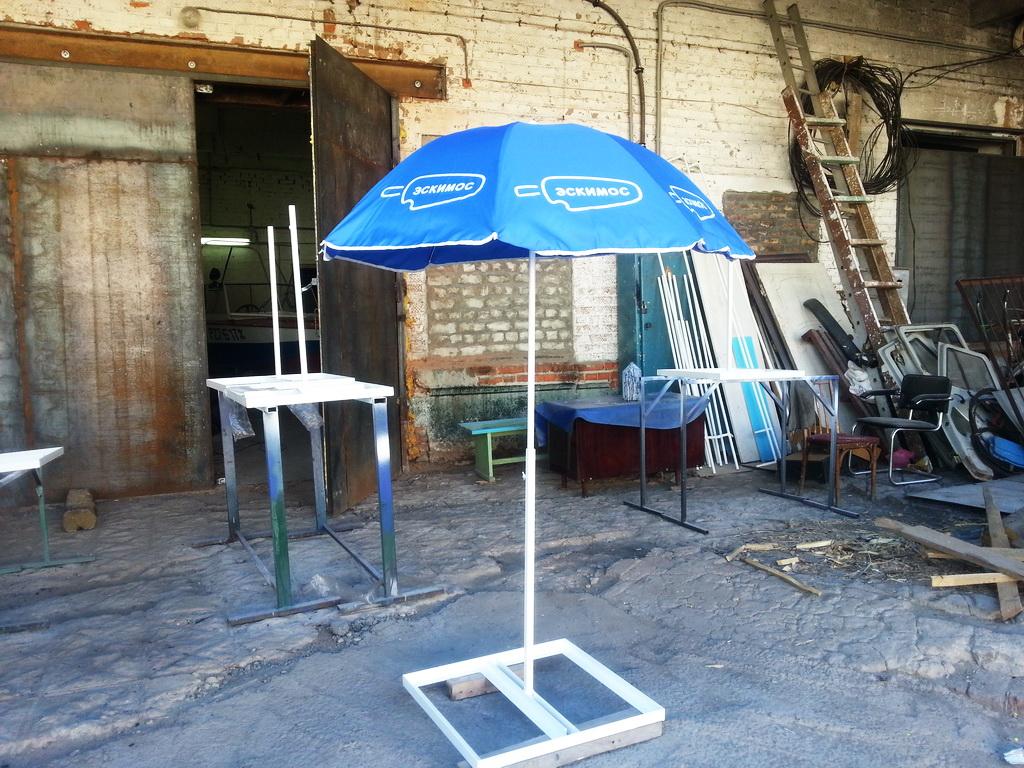 Торговый зонт, пошив торгового зонта для компании «Эскимос»
