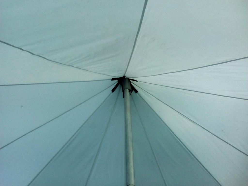 Купол шатра-звезды, вид изнутри