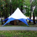 Тент-шатер «Звезда» в Томске, изготовление и монтаж шатра-звезды