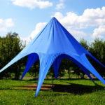 Вантовый шатер синий