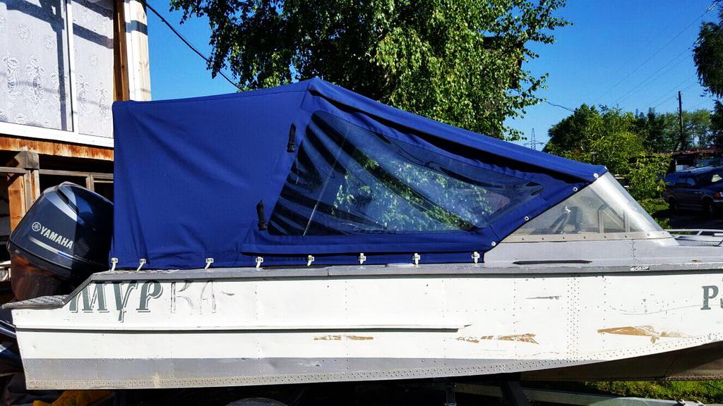 Ходовой тент на лодку «Амур» в Томске