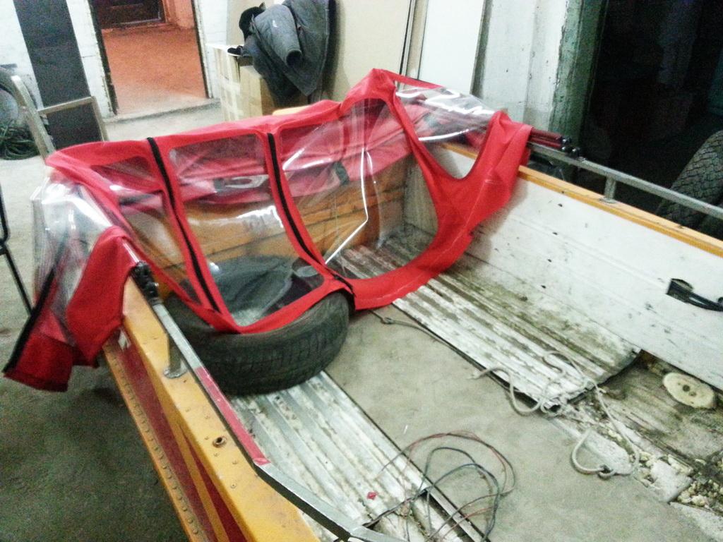 Ходовой тент-трансформер для лодки в Томске
