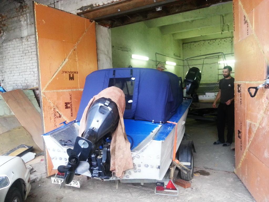 Изготовление ходового тента на лодку «Прогресс» в Томске