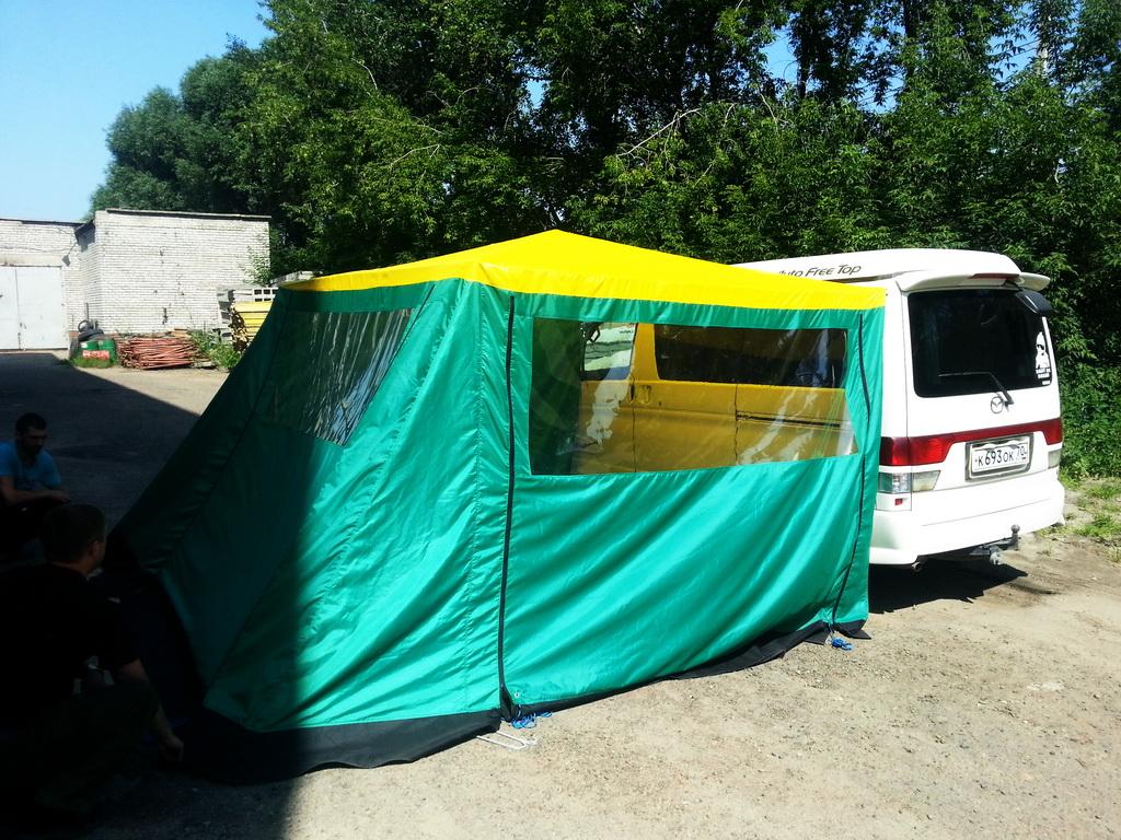 Пошив кемпинговой палатки для автомобиля в Томске