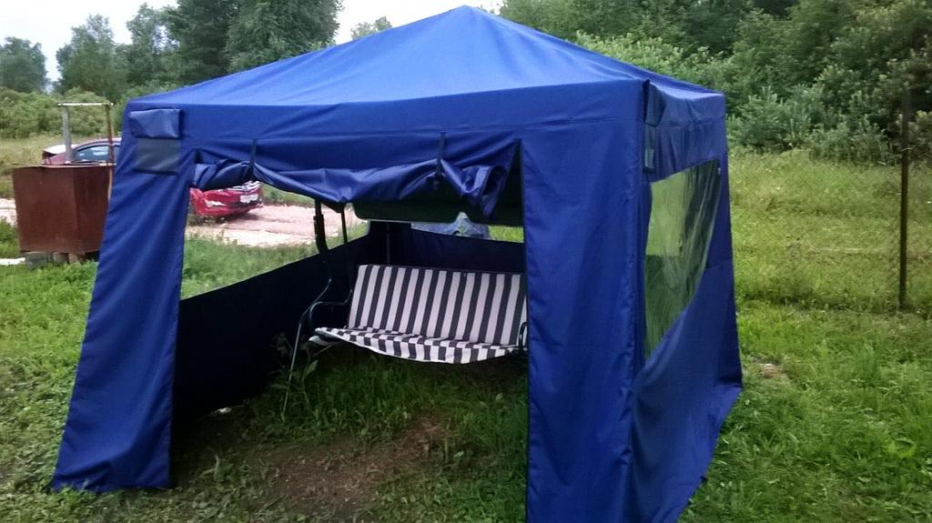 Тент-шатер для дачи в Томске