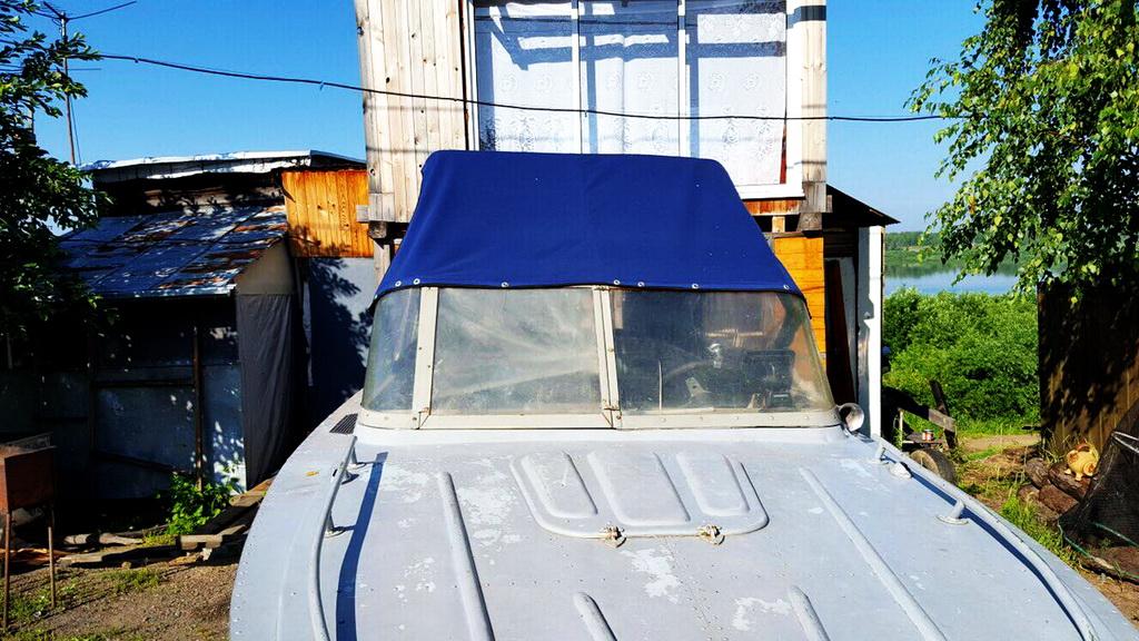 Изготовление ходового тента для лодки «Амур» в Томске на заказ