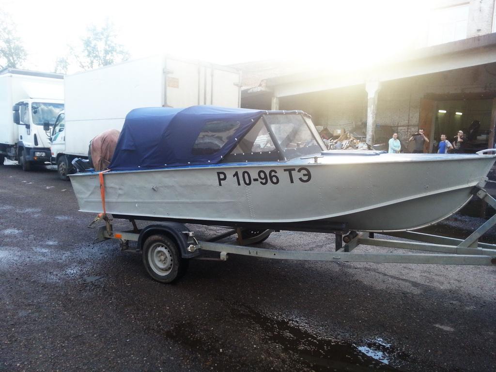 Ходовой тент на лодку «Прогресс» в Томске