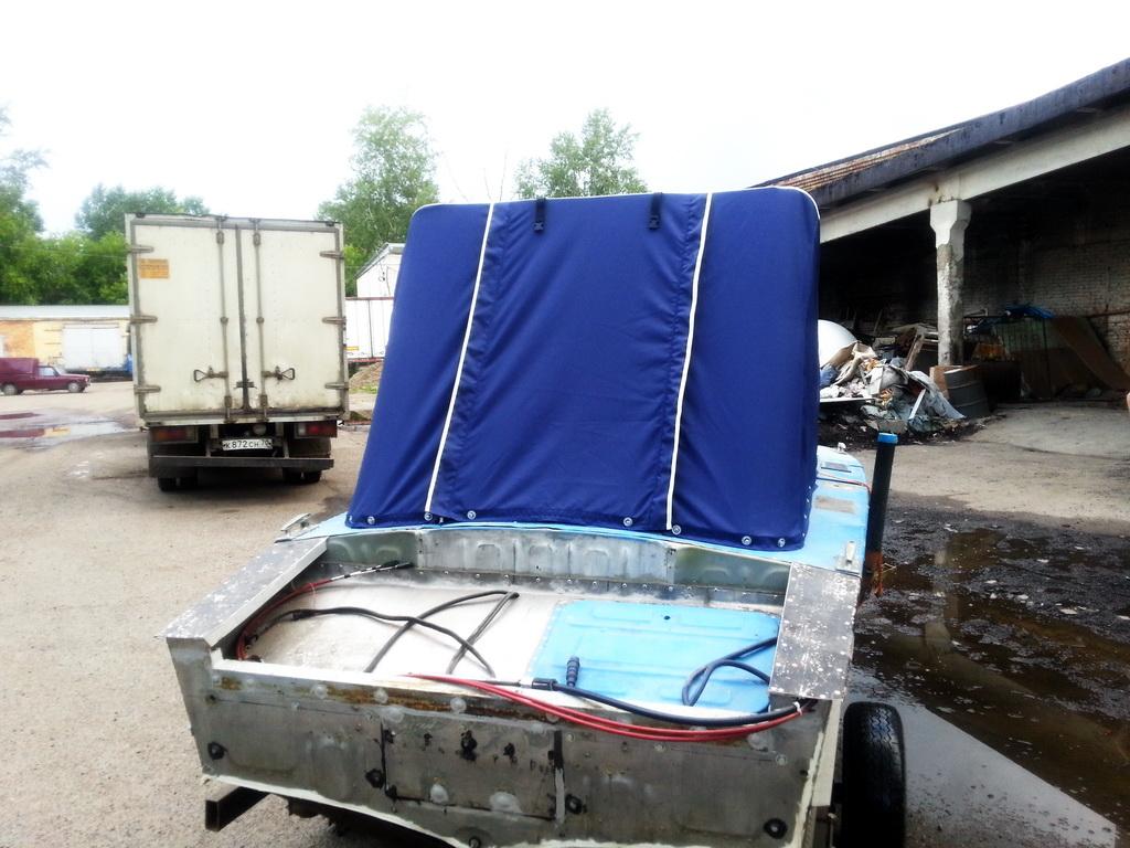 Пошив ходового тента на лодку «Прогресс» в Томске на заказ
