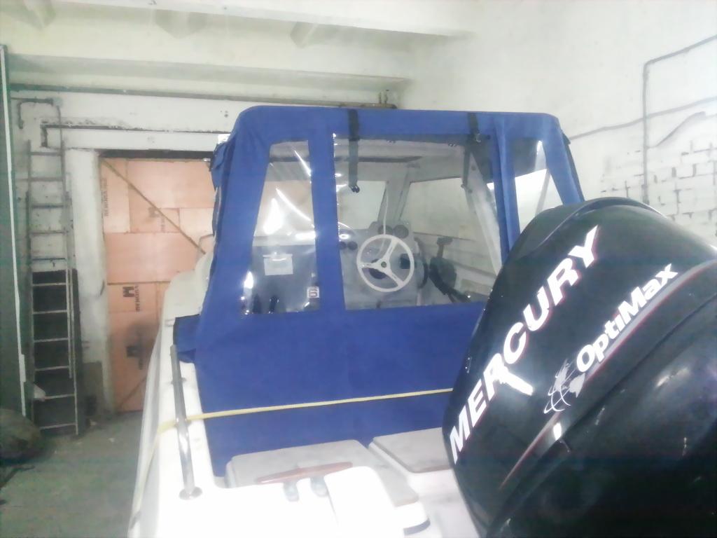 Пошив ходового тента на лодку Tahatsu TX20