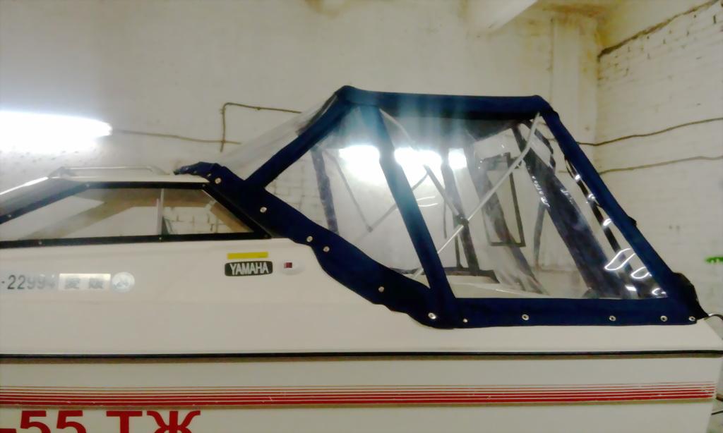 Ходовой тент-трансформер на лодку «Yamaha»