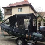 Ходовой тент для лодки-ПВХ