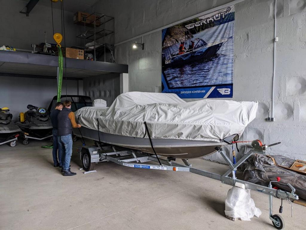 Тент на лодку «Волжанка-530»